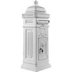Makstor.pl Skrzynka na listy z aluminium antyczna biel - antyczna biel (40100043)