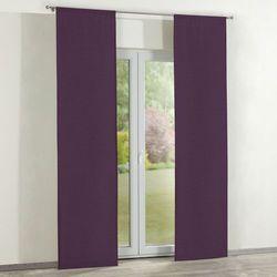zasłony panelowe 2 szt., fioletowy szenil, 60 × 260 cm, chenille marki Dekoria