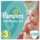 PAMPERS Active Baby pieluchy 3 Midi 150szt pieluszki Mega Box karton (4015400265207)