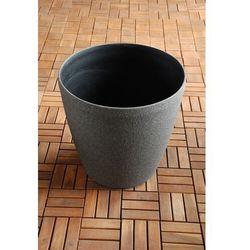 Ogrodowa donica plastikowa okrągła czerń xl od producenta Ogrody leandro