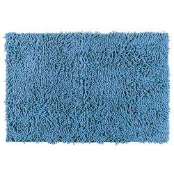 Wenko Dywanik łazienkowy chenille, niebieski, 80 x 50 cm,