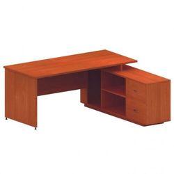 B2b partner Stół z szafką mirelli a+ 1600 x 1600 x 750 mm, czereśnia