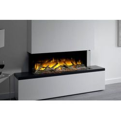 Kominek wolnostojący flamerite fires tropo 1000 cb z nadbudową. efekt płomienia radia flame led - promocja marki Flamerite fires - nowość 2021