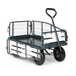ventura, ręczny wózek transportowy, nośność 300 kg, stal, wpc, czarny marki Waldbeck