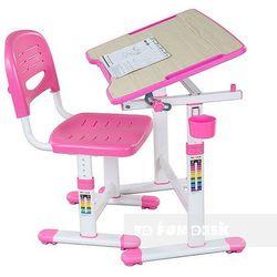 Piccolino II Pink - Ergonomiczne, regulowane biurko dziecięce + krzesełko FunDesk