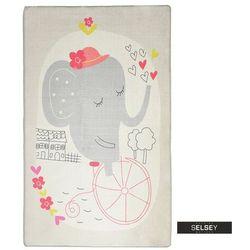 Selsey dywan do pokoju dziecięcego dinkley słoń szary 140x190 cm (5903025555249)
