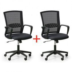 Krzesło biurowe roy 1+1 gratis, czarny marki B2b partner
