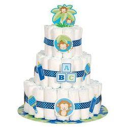 Zestaw dekoracji tortu z pieluszek marki Unique