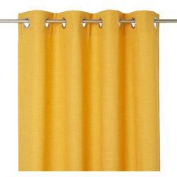 Zasłona zaciemniająca novan 140 x 260 cm musztardowa marki Goodhome