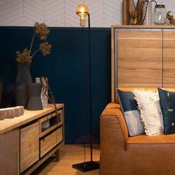 Lucide Ottelien 30771/16/30 Lampa stojąca podłogowa 1x60W E27 czarny/satynowy mosiądz (5411212302502)