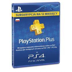 Karta Playstation Plus 365 dni - produkt z kategorii- Kody i karty pre-paid
