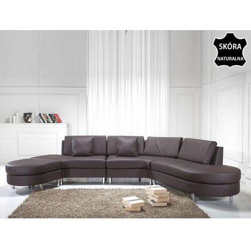 Luksusowa sofa kanapa brazowa skórzana COPENHAGEN - oferta [3576457447b57240]