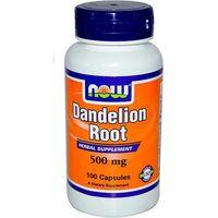 Mniszek lekarski ekstrakt Dandelion Root 500mg 100 kapsułek NOW FOODS (2552501003083)