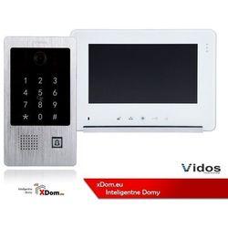 Zestaw Wideodomofonu Vidos stacja bramowa z czytnikiem i szyfratorem monitor 7'' S20DA_M690WS2