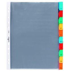 Przekładki A4, kolorowe zgrzane indeksy, 10 części, 663219_d