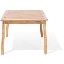 Beliani Stół ogrodowy drewniany 180/240 x 100 cm rozkładany cesana