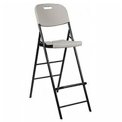 Perel składany stołek barowy z oparciem (5410329686499)