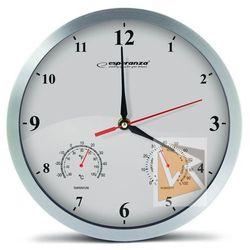 Esperanza zegar ścienny washington biały (ehc008w) darmowy odbiór w 21 miastach!