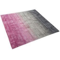 Beliani Dywan szaro/różowy 200 x 200 cm krótkowłosy ercis