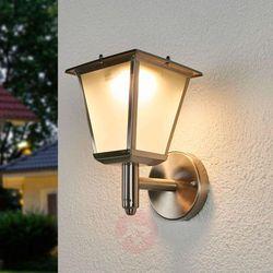 Zewn. kinkiet solarny Anica z LED, stal szlachetna (4251096541540)