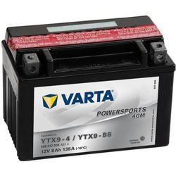 Varta  akumulator motocyklowy powersports agm ytx9-4 / ytx9-bs