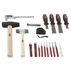 Zestaw narzędzi form, punktak, przecinak, motek, skrobak, 19-częściowy, luzem (b marki Vigor