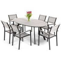 Home garden Meble ogrodowe aluminiowe lorenzo black/grey home&garden (780451)