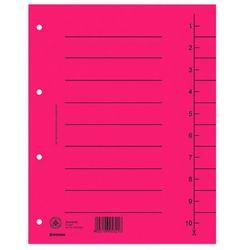 Przekładki , karton, a4, 235x300mm, 1-10, 10 kart, czerwone marki Donau