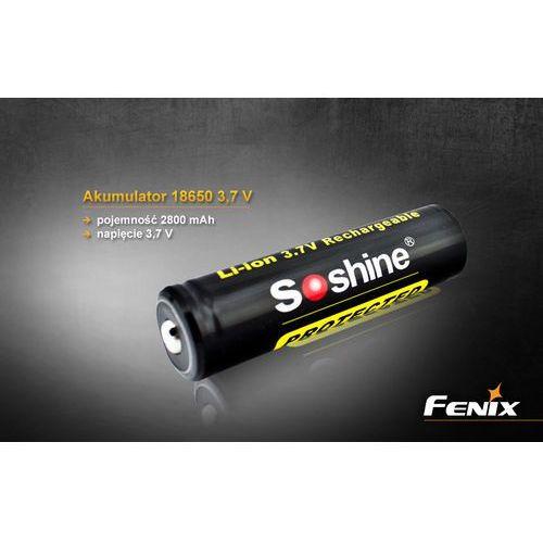 Soshine 18650 - akumulatorek 2800 mAh. - z kategorii- pozostałe oświetlenie