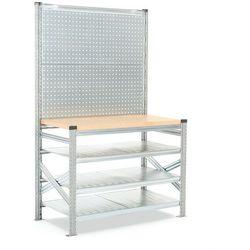 Stół roboczy transform, z panelem narzędziowym, moduł podstawowy, 1972/916x1200x600 mm marki Aj produkty