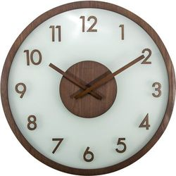 Zegar ścienny Frosted Wood brown by Nextime
