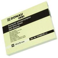 Bloczek Donau ECO 101x76 mm żółty 100 kartek samoprzylepny z kategorii Pozostałe artykuły biurowe