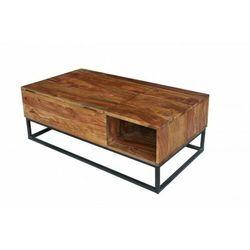 Sofa.pl Invicta stolik kawowy makassar function - 110 cm sheesham, drewno naturalne, metal