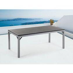 Meble ogrodowe - stół granitowy 180 cm – czarny palony - TORINO