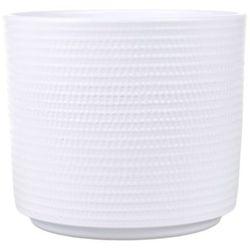 Osłonka doniczki calla cylinder 14 cm biała marki Cermax