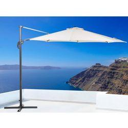 Parasol ogrodowy – beżowy – ø 291 cm – na wysięgniku – metalowy - savona, marki Beliani