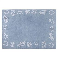 Dywan do prania w pralce granja azul/blue, marki Lorena canals