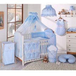 MAMO-TATO pościel 15-el Śpiący miś w błękicie do łóżeczka 70x140cm - Moskitiera