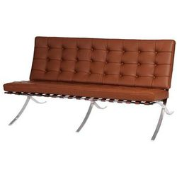 Sofa BA2 2 osobowa, jasny brąz skóra naturalna MODERN HOUSE bogata chata