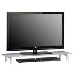 Stolik pod telewizor, 110 cm, biały, szkło, metal, 16059746 marki Maja-möbel