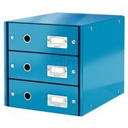 Pojemnik Leitz Click&Story z 3 szufladami niebieski 60480036, BP819985