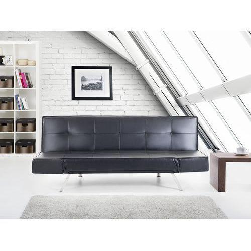 Rozkladana sofa czarna ruchome podlokietniki BRISTOL - produkt dostępny w Beliani
