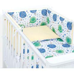 ochraniacz rozbieralny do łóżeczka 60x120 dmuchawce chaber / cytrynowy marki Mamo-tato