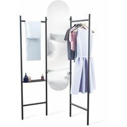 Wolnostojąca garderoba z lustrem Umbra Vala black, 1009611-040-PAL