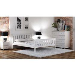 Łóżko Alion 140x200 BIAŁE SZARE z materacem bonellowym, lozko-sosnowe-alion-140x200-biale-z-materacem-bonellowym