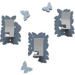 Wieszaki ścienne dekoracyjne Butterflies CalleaDesign niebieskie