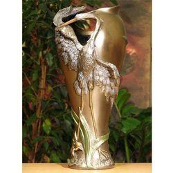 Przepiękny wazon z czaplą na prezent
