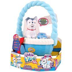 Little Live Pets, Franio, niebieski piesek w koszyku