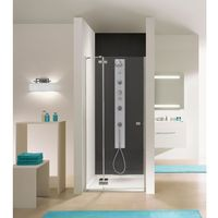 free line drzwi wnękowe 100cm, szkło transparentne dj2/free 600-260-0340-42-401 marki Sanplast