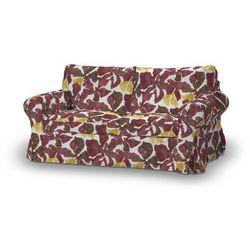 Dekoria Pokrowiec na sofę Ektorp 2-osobową, rozkładaną STARY MODEL, żółto-brązowe kwiaty, Sofa Ektorp 2-osobowa rozkładana, Wyprzedaż do -30%